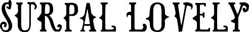 Surpal Lovely Font