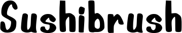 Sushibrush Font