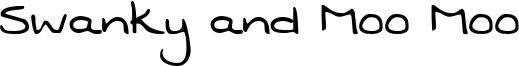 Swanky and Moo Moo Font