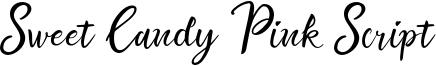 Sweet Candy Pink Script Font