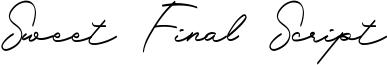 Sweet Final Script Font