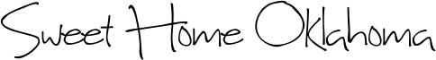 Sweet Home Oklahoma Font