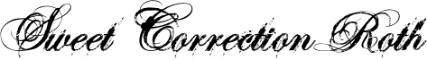 Sweet Correction Roth Font