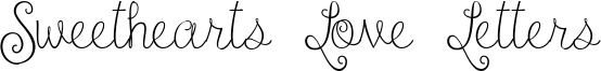 Sweethearts Love Letters Font