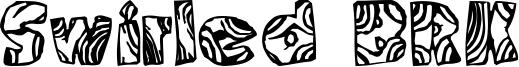 Swirled BRK Font