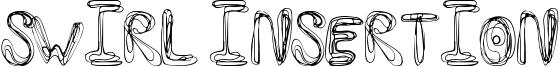 Swirl Insertion Font