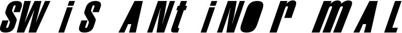 Swis AntiNormal Font