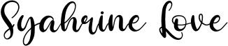 Syahrine Love Font