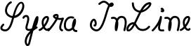 Syera InLine Font