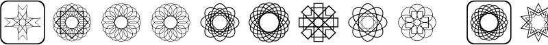 Symmetric Things Font
