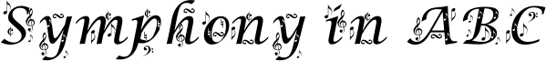 Symphony in ABC Font