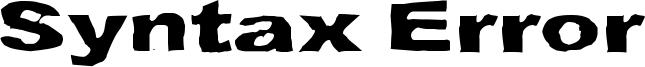 Syntax Error Font