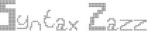 Syntax Zazz Font