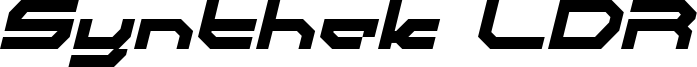 Synthek LDR Font