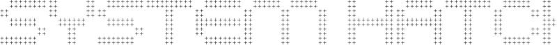 System Hatch Font