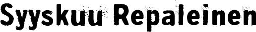 Syyskuu Repaleinen Font
