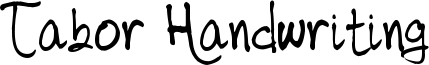 Tabor Handwriting Font