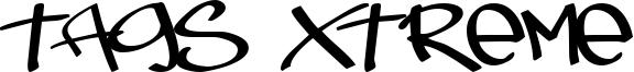 Tags Xtreme Font