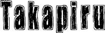 Takapiru Font