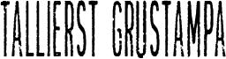 Tallierst Grustampa Font