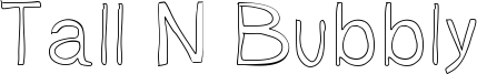 Tall N Bubbly Font