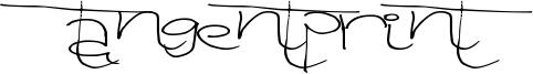 Tangent Print Font