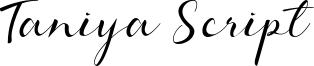 Taniya Script Font