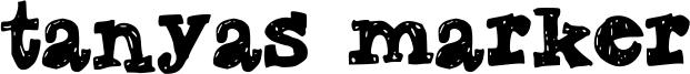 Tanyas Marker Font