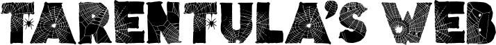 Tarentula's Web Font