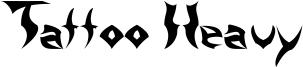 Tattoo Heavy Font