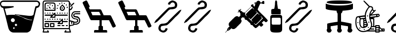 Tattoo Pro Icons Font