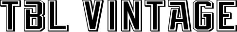 TBL Vintage Font