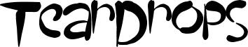 TearDrops Font