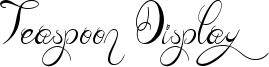 Teaspoon Display Font