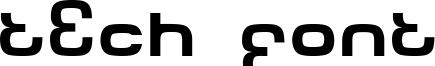Tech Font Font
