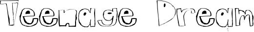 Teenage Dream Font