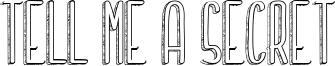 Tell me a secret Font