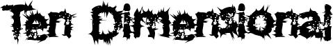 Ten Dimensional Font