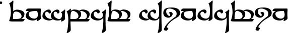 Tengwar Sindarin Font
