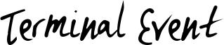 Terminal Event Font