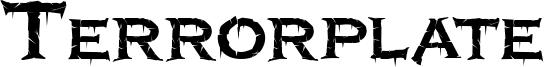 Terrorplate Font