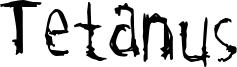 Tetanus Font