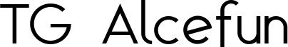 TG Alcefun Font
