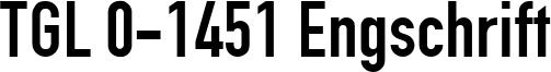 TGL 0-1451 Engschrift Font