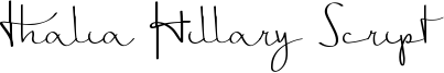 Thalia Hillary Script Font