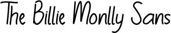 The Billie Monlly Sans Font