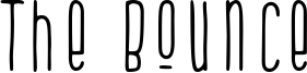 The Bounce Font