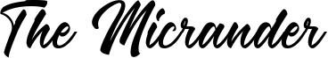 The Micrander Font