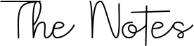 The Notes Font
