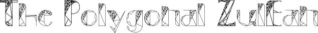 The Polygonal ZulEan Font